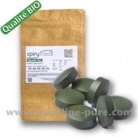 Spiruline bio - 50 x 500 comprimés de spiruline pure en sachet qualité bio